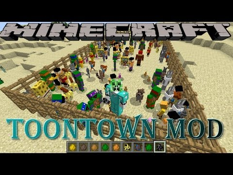 MINECRAFT REVIEW MOD PERSONAJES DE CARTOON NETWORK(Toontown Mod) 1.7.2/1.6.4 ESPAÑOL