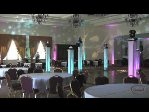 Amazing Casino Night Uplighting Low Fog New Vizi 5R ADJ Lights Gobo in Lancaster Ca Video