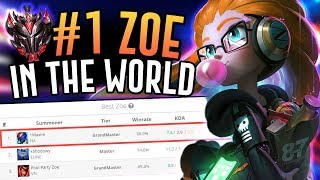 THE NUMBER ONE ZOE IN THE WORLD DESTROYS JENSEN!! - Grandmaster Mid - League of Legends