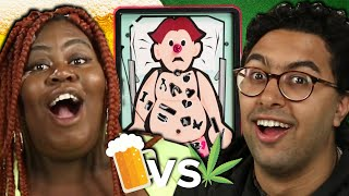 "Drunk Vs. High People Play The Game ""Operation"""