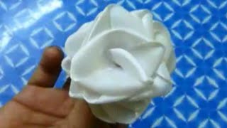 How To Make A Ribbon Rose Easily.(rose No.4)
