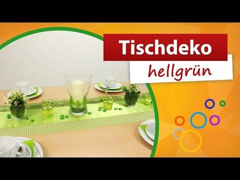 ♥ Tischdekoration Hellgrün ♥ Tischdeko | Trendmarkt24 - Mustertische