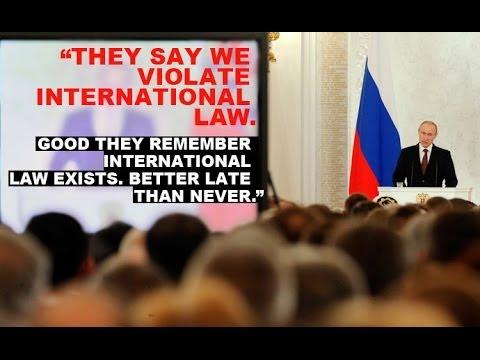 President Vladimir Putin welcomed Crimea's referendum, Moscow, 18/03/2014