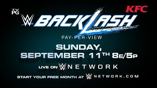 Don't miss WWE Backlash 2016 - Sunday, Sept. 11