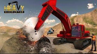 Máy xúc Đất khổng lồ, máy xúc làm việc, may múc cát, Máy xây dựng trên công trường với máy xúc đào c