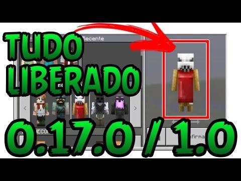 MINECRAFT PE 0.17.0/1.0- COM TUDO DESBLOQUEADO SKIN,TEXTURAS,CAPAS- APK MODIFICADO COM TUDO LIBERADO