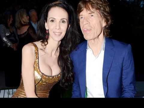 L'Wren Scott & Mick Jagger kissing compilation
