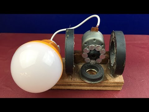 2018 Free Energy Generator 100% By DC Motor with Magnets - Homemade Science Project Electricity thumbnail