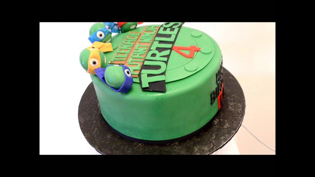Number  Ninja Turtle Cupcake Birthday Cake