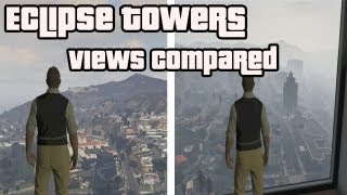 (HD) GTA V Online - Eclipse Towers Apartment 40 + 31 - View Comparison