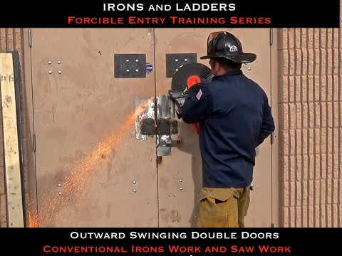 Double Door Forcible Entry w/ Double Drop Bars - IRONS and LADDERS LLC