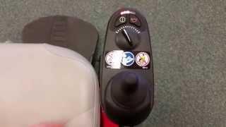 Unlocking a power wheelchair joystick GC 2