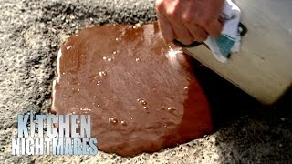 Gordon Pours Disgusting Gravy Into the Street | Kitchen Nightmares