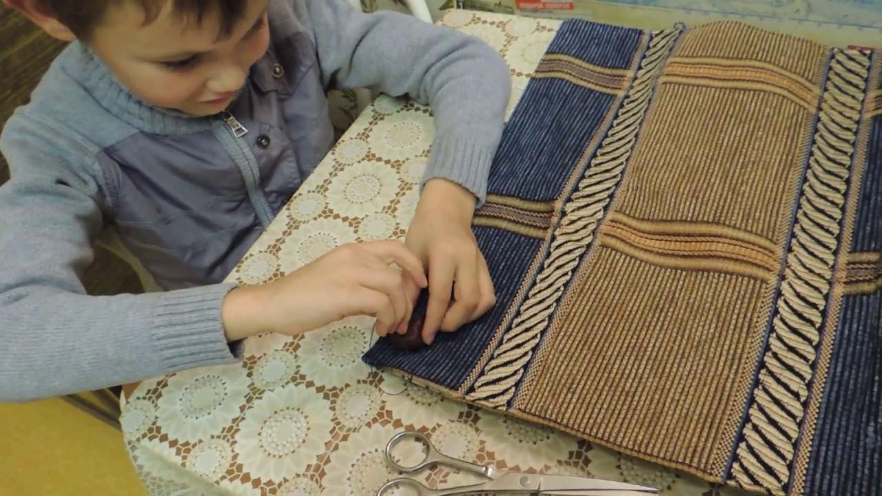 Массажный коврик из каштанов 70