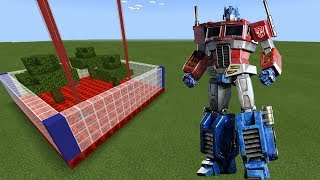 How To Make an OPTIMUS PRIME Farm in Minecraft PE