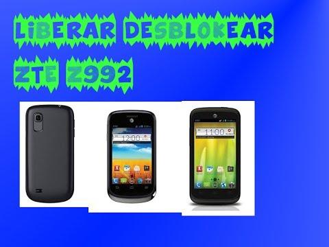 Liberar desblokear ZTE Z992 para Claro. Movistar. Telcel. AT&T. Tmobil. o cualquier GSM