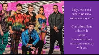 Runaway - Sebastián Yatra & Daddy Yankee & Natti Natasha & Jonas Brothers - (Lyrics)
