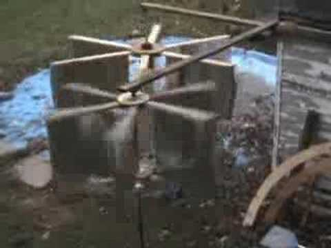 vertical axis wind turbine diy green energy vawt pma - YouTube