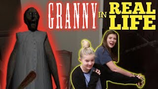 GRANNY HORROR GAME IN REAL LIFE || Taylor and Vanessa