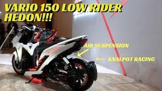 Modifikasi Honda Vario 150 Putih - Futuristic Low Rider