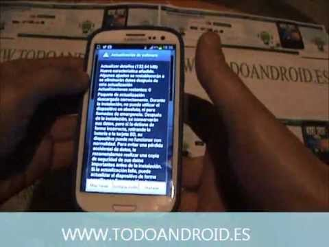 Actualizar el Samsung Galaxy S3 a Jelly Bean android 4.1.2 via OTA (on the air)