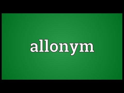 Header of allonym