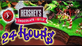 24 HOUR OVERNIGHT in HERSHEY CHOCOLATE FACTORY | LOCKED IN CHOCOLATE WORLD OVERNIGHT CHALLENGE 😱