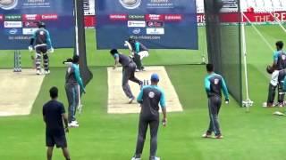 Pakistan cricket team practice at Kennington Oval, London