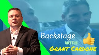 Len Perroots Backstage with Grant Cardone