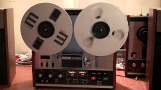 TEAC A-3300S 2-Track Reel to Reel Tape Deck. Serviced and Working. ZCUCKOO