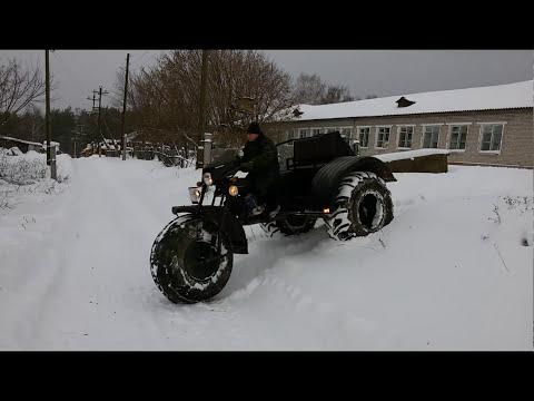 Болотоход снегоход своими руками