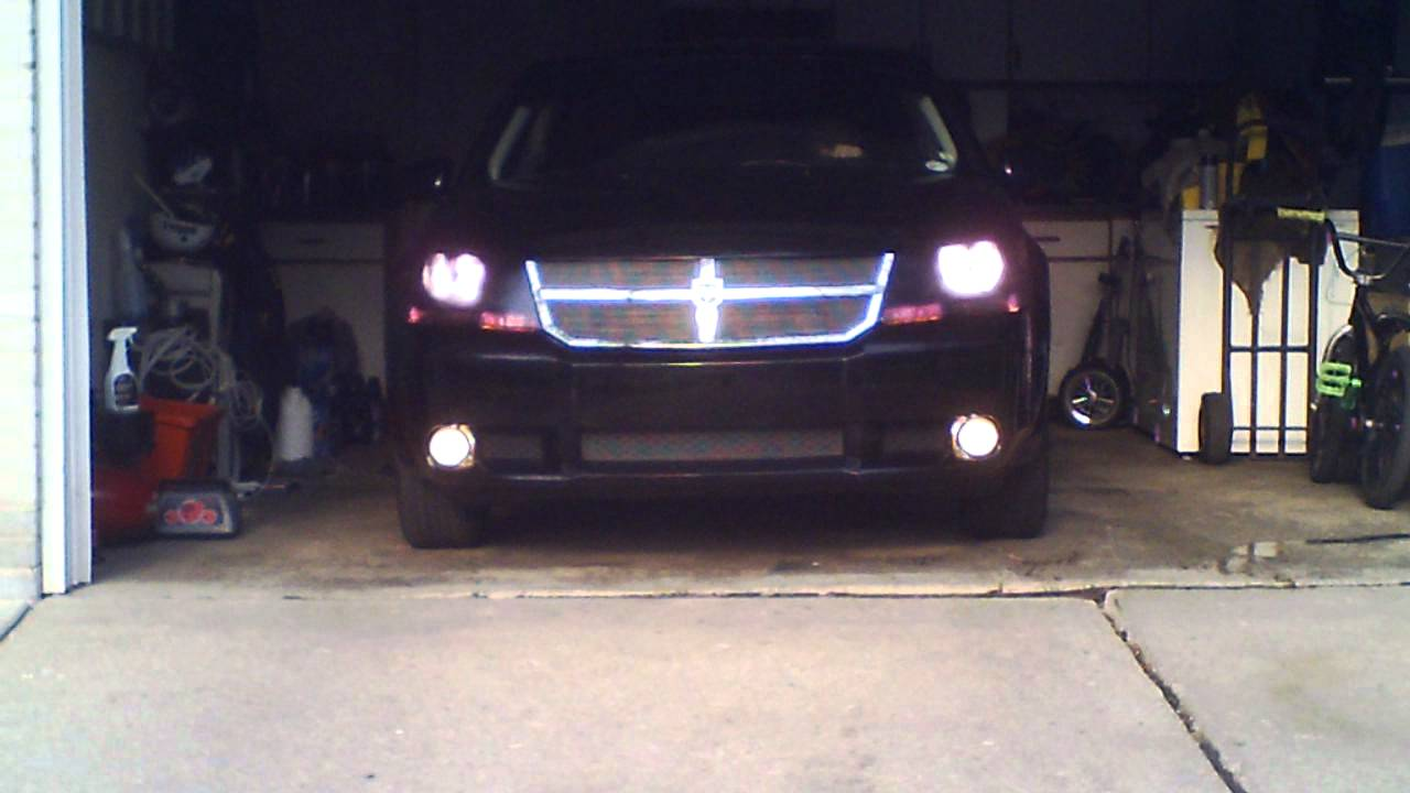 2010 Dodge Avenger R T Black Out Headlighs Youtube