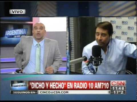 C5N ARGENTINA EN VIVO DUPLEX CON DICHO Y HECHO EN RADIO 10 AM 710