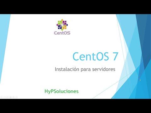 Centos 7 - Instalación como servidor.