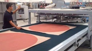 CIRCULAR CUTTING MACHINE FOR CARPET / KAMERALI YUVARLAK HALI KESİM MAKİNESİ