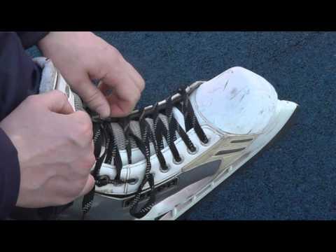 Как правильно зашнуровать хоккейные коньки