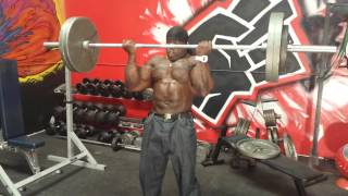 Kali muscle 275lb barbell curls kali muscle police called on