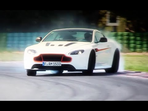 Drifting with an awesome Aston V12 Vantage S (Motorsport)