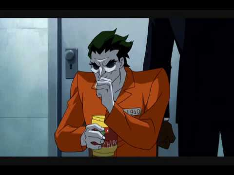 Black Mask asks for the Joker's help and gives him a glass of water
