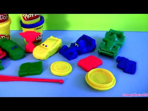 Cars 2 Play-Doh Race Mats World Grand Prix Lightning McQueen Raoul ÇaRoule Disney Pixar play doh