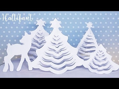 Hattifant - 3D Christmas Tree | THE ORIGINAL | 3D Paper Christmas Tree with FREE printables