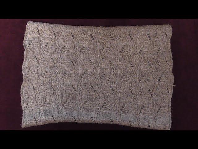 Вязание шарфа-снуда спицами для новичков.Схема. Видео урок.