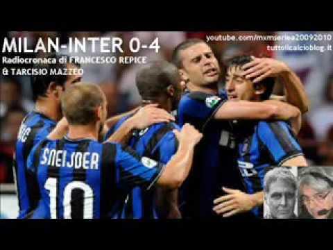 MILAN-INTER 0-4 di Francesco Repice & Tarcisio Mazzeo (29/8/2009) Radiocronaca da Radio 1 RAI