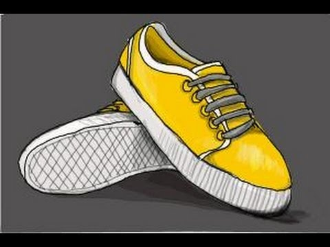 Drawing of Vans Shoes How to Draw Vans Shoes
