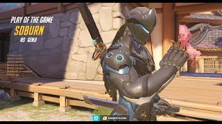 Overwatch This Is How Genji God Shadowburn Plays -POTG-