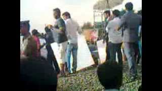 Arakkonam - Dhanush in Anegan shoot in Arakkonam