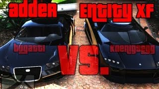GTA5 | Adder vs. Entity XF - (Bugatti) vs.(Koenigsegg) | EC