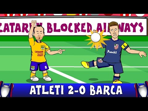 ATLETICO MADRID vs BARCELONA 2-0 -penalty CONSPIRACY? (Champions League Quarter Final Highlights)