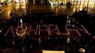 SHINE THE HOPE - Rising of NO HARLAN GLOBAL CAMPAIGN - Silent candlelit vigil, Udine, Jan. 19th 2013