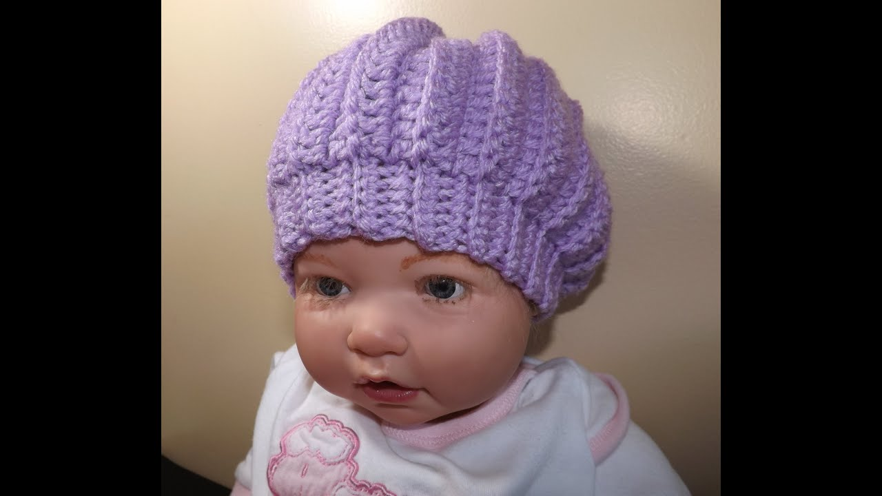 Crocheting Newborn Baby Hat : Crochet Baby Hat - YouTube